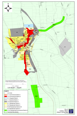 Fillable Online Cariboumaine Official Zoning Map City Of Caribou