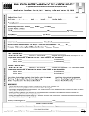 lottery application form for funding 2017 pdf