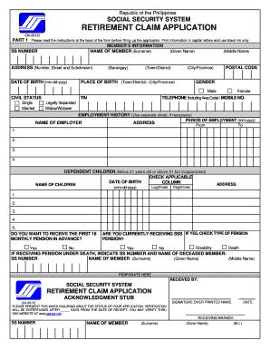 Social Security Retirement Application Fill Print