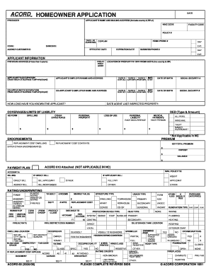 Printable acord 140 fillable 2014 Forms and Document ...