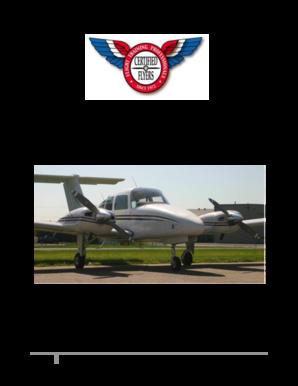 Fillable Online Certified Flyers II BE76 Duchess Multi