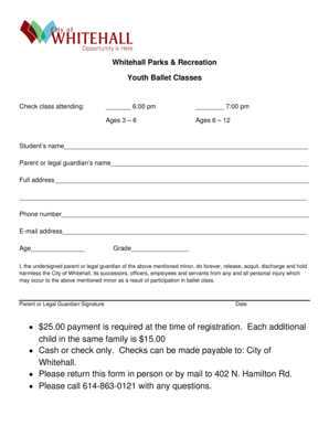 Whitehall Parks Recreation 2500 payment is required at - whitehall-oh