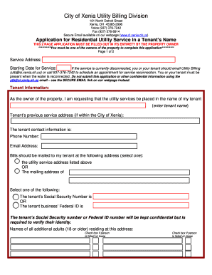 Example Of A Filled Out Residential Lease Edit Print