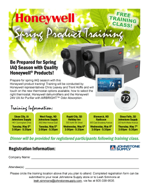 FREE TRAINING CLASS Spring Product Training Fill Online, Printable