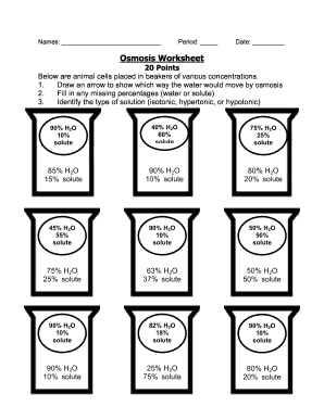 Fillable Online Names Period Date Biology Mr Croft Osmosis Worksheet ...
