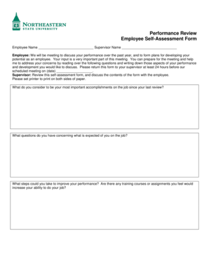 Performance Review Employee Self-Assessment Form