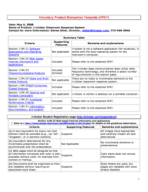 Editable software product evaluation template - Fill Out & Print ...