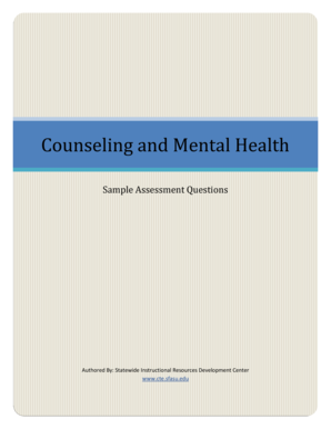 Fillable Online Cte Sfasu Counseling And Mental Health Assessment