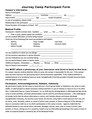 Medication Profile Home Health Fillable Printable Online Forms