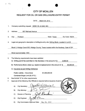 Fillable Online REQUEST FOR OIL OR GAS DRILLINGRE-ENTRY