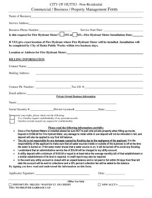 Commercial Property Management Forms. CITY OF HUTTO Non Residential  Commercial Business