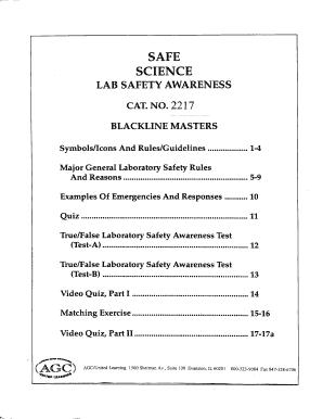 fillable online safe science fax email print pdffiller