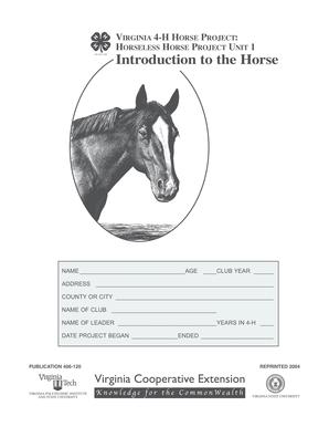 VIRGINIA 4-H HORSE PROJECT HORSELESS HORSE PROJECT UNIT 1 - pubs ext vt