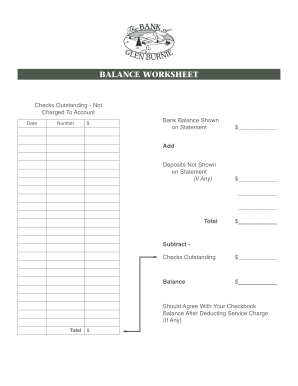 21 Printable Balancing A Checkbook Worksheet Forms And Templates