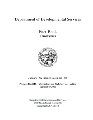 Fillable Online dds ca Department of Developmental Services
