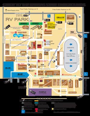 Fillable Online FAIRGROUNDS MAP W PARKING Kansas State Fair - Kansas state map
