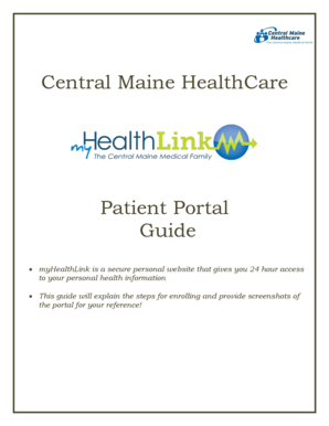 Fillable Online myhealthlink cmmc Central Maine HealthCare - Patient