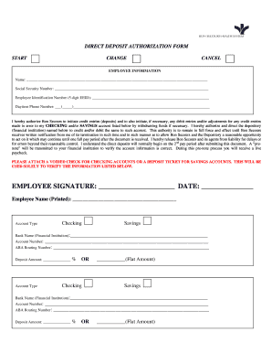 how to fill out a direct deposit authorization form - Edit