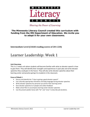 Learner Leadership Unit - Minnesota Literacy Council