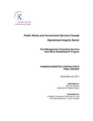 Cost Management Consulting Services East Block Rehabilitation Program - tpsgc-pwgsc gc