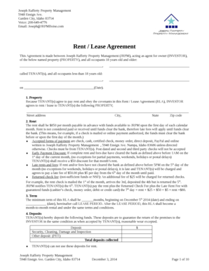 Lease-Only Property Management Agreement