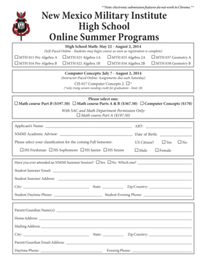 New Mexico Military Institute High School Online Summer - nmmi