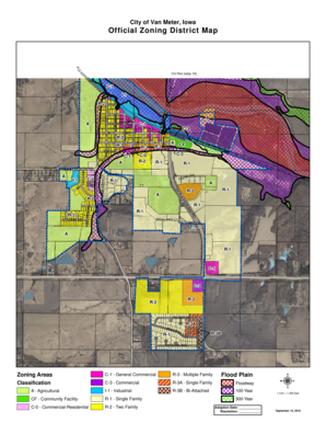 Fillable Online City of Van Meter Iowa Official Zoning