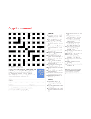 photo relating to Cryptic Crosswords Printable named Printable cryptic crossword solver - Fill Out Obtain