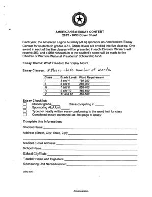 americanism essay contest 2013