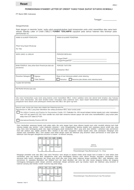 Fillable sample standby letter of credit format - Edit