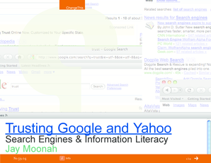 Trusting Google and Yahoo - Wayne State University - ism7505 business wayne
