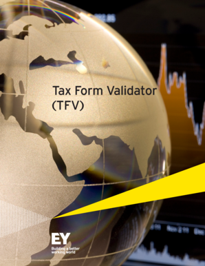 Fillable Online Tax Form Validator TFV - EY Fax Email Print