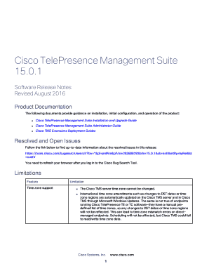 Fillable Online Cisco TelePresence Management Suite