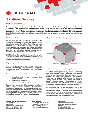 Fillable Online SAI Global Services Fax Email Print - PDFfiller