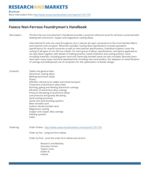 Foseco Non Ferrous Foundrymans Handbook Pdf