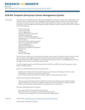 Fillable Online ECM RFP Template Enterprise Content
