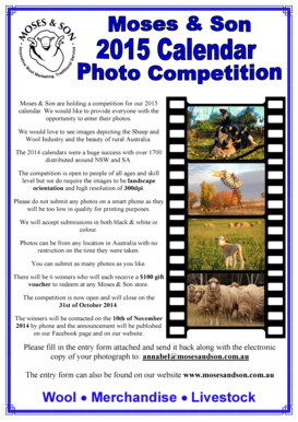 2015 Calendar Photo Competition Flyer &amp