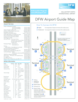 dfw airport guide map Fillable Online Dfw Airport Map Fax Email Print Pdffiller dfw airport guide map