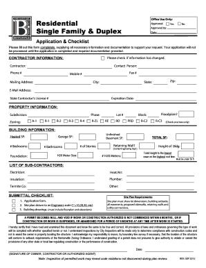 Single Family U0026 Duplex  Office Supply Checklist Template