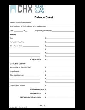 fillable online balance sheet chxcom fax email print pdffiller