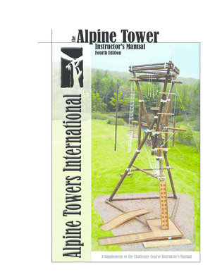 Alpine Climbing Tower Alpine Tower Manual 2004 - unicamp