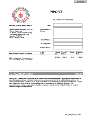 invoice template xls