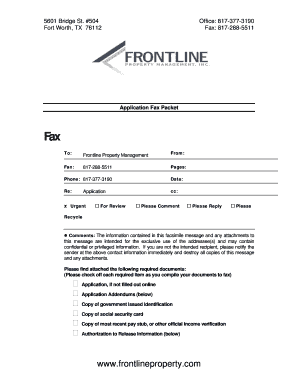 How to fill out a texas residential lease agreement fill out texas residential lease agreement application fax packet frontline property management inc platinumwayz
