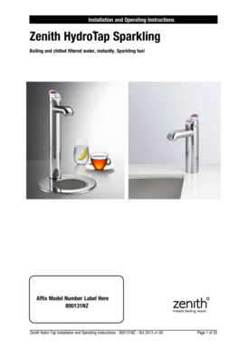 zip hydrotap installation and operating instructions