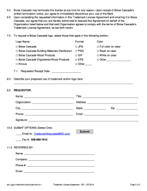Trademark Licensing Agreement Sample Edit Fill Out Top