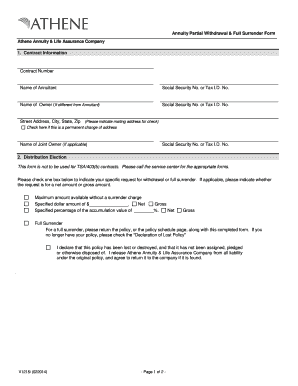 2014 Form Athene AA-V1215 Fill Online, Printable, Fillable ...