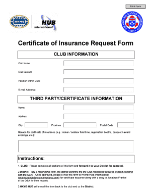 Certificate of insurance request form hkmbcom fill online preview of sample frankel form rating yadclub Choice Image