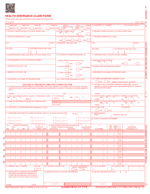 image regarding Cms 1500 Form Printable titled Printable printable cms 1500 type 02/12 - Edit, Fill Out