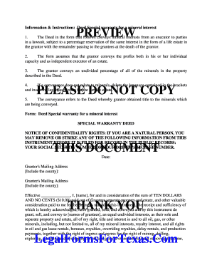picture regarding Printable Warranty Deed Texas referred to as unique guarantee deed texas style - Fill Out On line Kinds