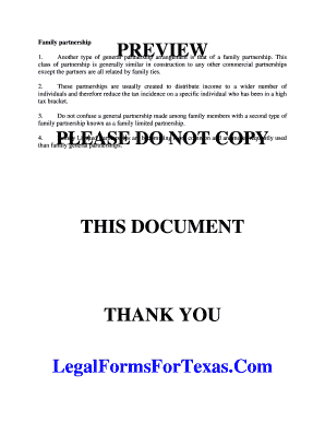 Family Limited Partnership Agreement Pdf Editable Fillable